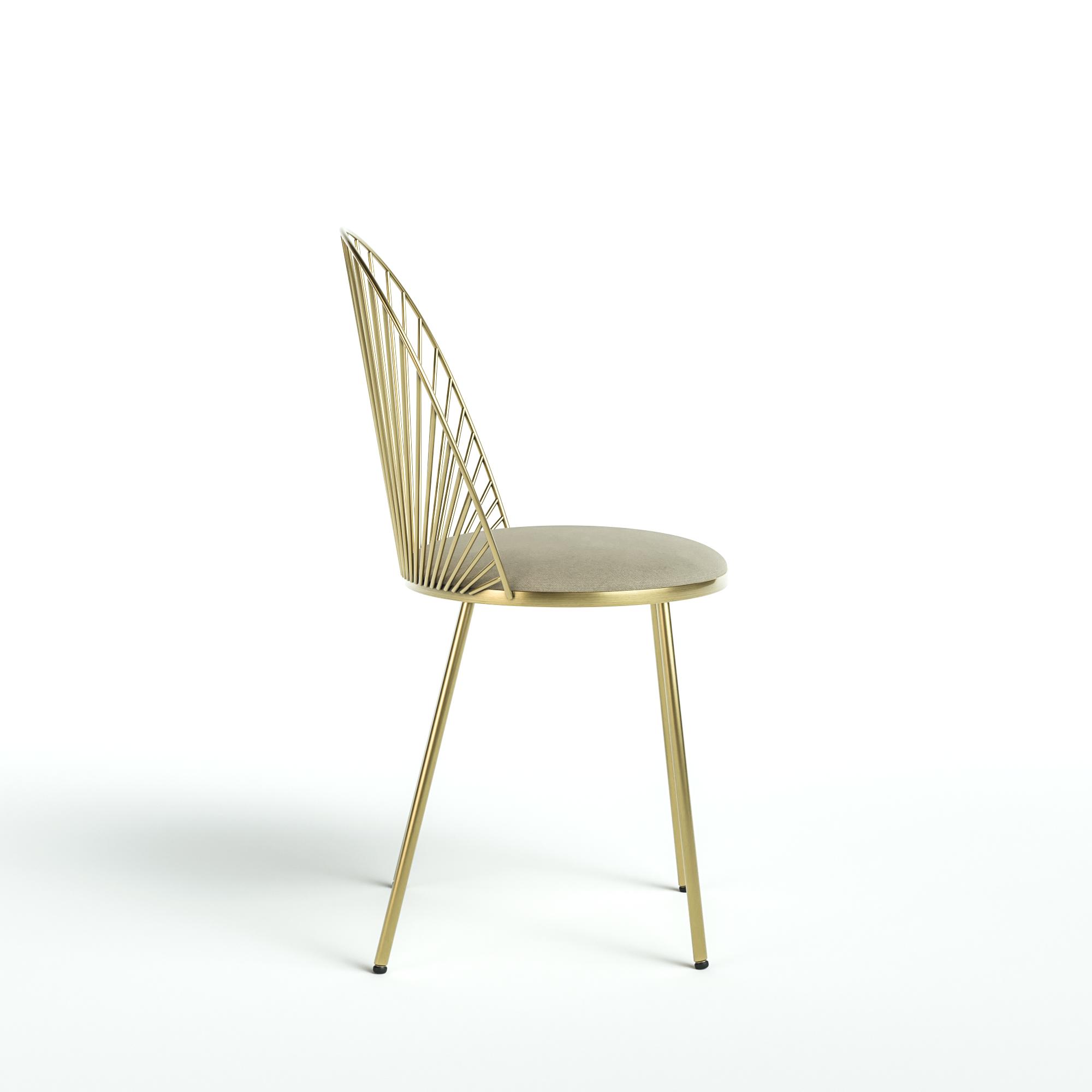 Blush chair - Design metal chair by Happé