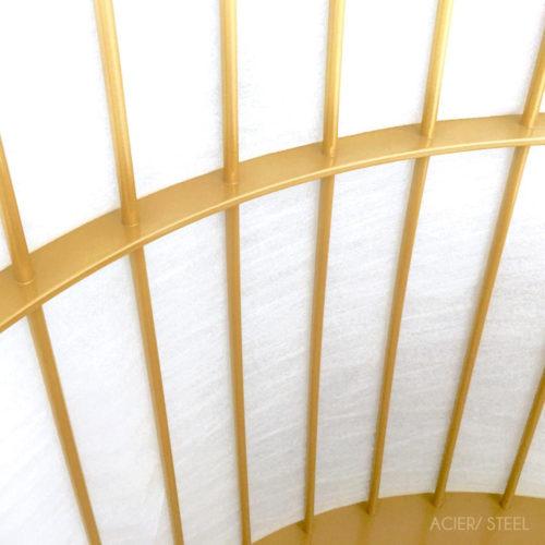 Cage détail acier suspendue 1