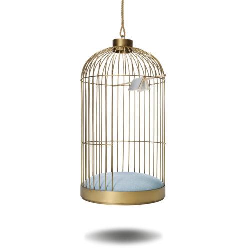 Fauteuil Cage acier suspendu