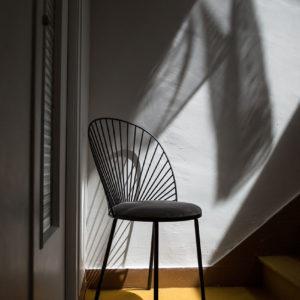 Chaise blush noir