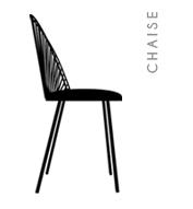 Chaise blush